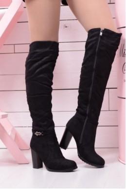 Ботфорты зимние на каблуках