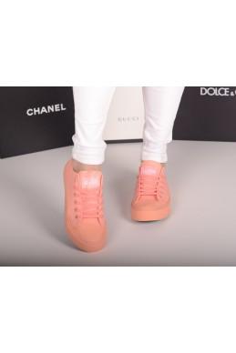 Демисезонная Кеды Кеды Converse реплика персик обувной  текстиль 20257 вьетнам