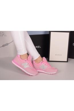 Демисезонная Кеды кроссовки ньюбеленс красивый  розовый розовый иск  замш 20428 вьетнам