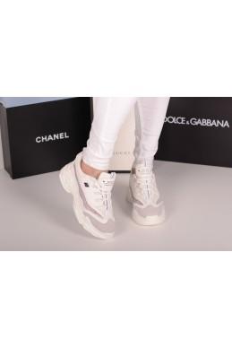 Демисезонная Сникерсы кроссовки  Balenciaga сетка серебро белый текстиль 20444 Турция