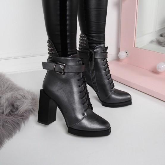 Ботинки серебро