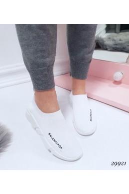 """Демисезонные Кроссовки носки  короткие """"Balenciaga """" Viol ; Подошва сзади-4,5 см; спереди-2,5 см ; Высота от пятки 6,5 см; Размер в размер;с 36 по 41; 36-23,5; 37-24; 38-24,5; 39-25-25,5; 40-26-26,5 см. белые обувной  текстиль 29921 польша"""