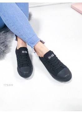 Демисезонная Кроссовки Кеды   Converse АКЦИЯ черный обувной  текстиль 17680 Турция