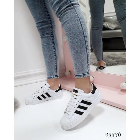 Демисезонные Кроссовки Adidas Superstar; Подошва 3 см; Высота задника-6.5 см; ;с 36 по 40; 36-23.5; 37-24; 38-24.5; 39-25; 40-26 см белый эко кожа 23336 Украина
