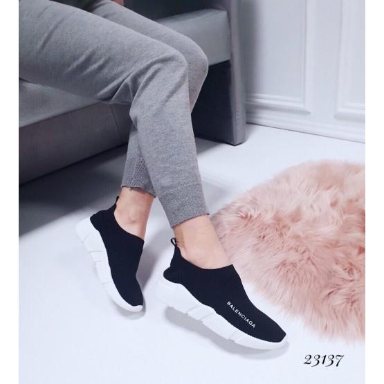"""Демисезонные Кроссовки """"Balenciaga """" Viol низкие; Подошва сзади-4,5 см; спереди-2,5 см ; Высота от пятки 6,5 см; Размер в размер;с 36 по 41; 36-23,5; 37-24; 38-24,5; 39-25-25,5; 40-26-26,5 см. черный обувной  текстиль 23137 польша"""