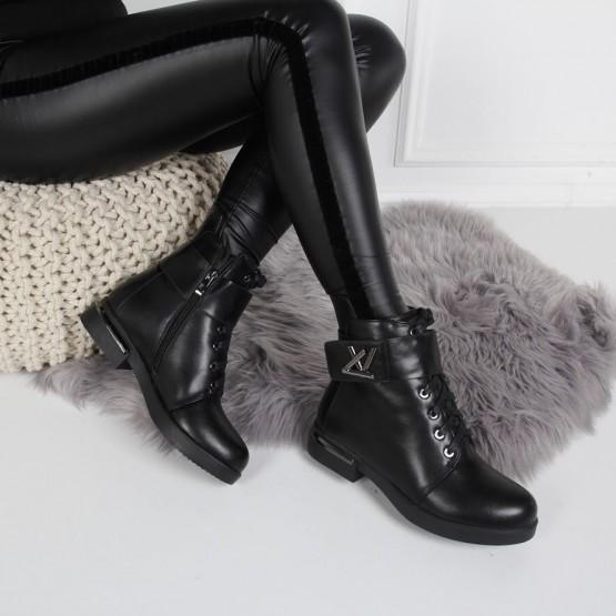 Ботинки низкий ход спереди шнуровка