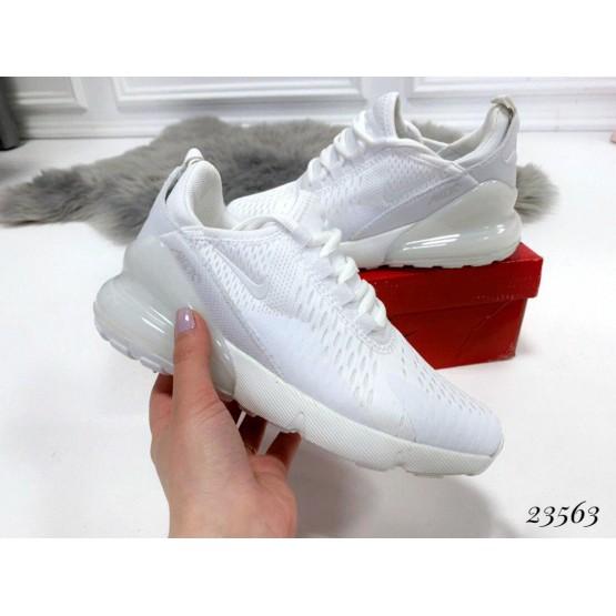 Демисезонные Кроссовки Nike Air Max 270 ; Подошва сзади-6 см; спереди-2 см ; Высота задника 6 см;Маломерят на размер; с 36 по 41; 36-22,5 ; 37-23,5; 38-24 ; 39-24,5 ; 40-25 .41-26 см белый текстиль 23563 вьетнам 36(р)