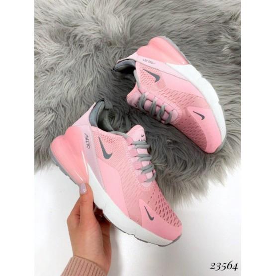 Демисезонные Кроссовки Nike Air Max 270 ; Подошва сзади-6 см; спереди-2 см ; Высота задника 6 см;Маломерят на размер; с 36 по 41; 36-22,5 ; 37-23,5; 38-24 ; 39-24,5 ; 40-25 .41-26 см розовый текстиль 23564 вьетнам 36(р)
