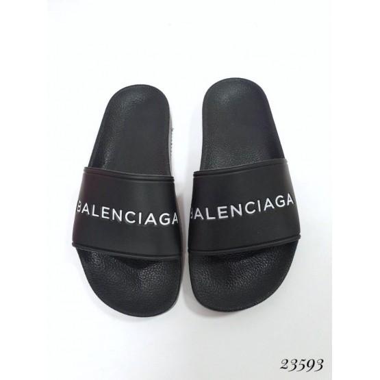 Летняя Шлепанцы Balenciaga ; Высота подошвы 2,5 см; Размер в размер; с 36 по 40; 36-23; 37-23,5; 38-24,2; 39-25; 40-25,5 см черный эко кожа 23593 Китай 36(р)