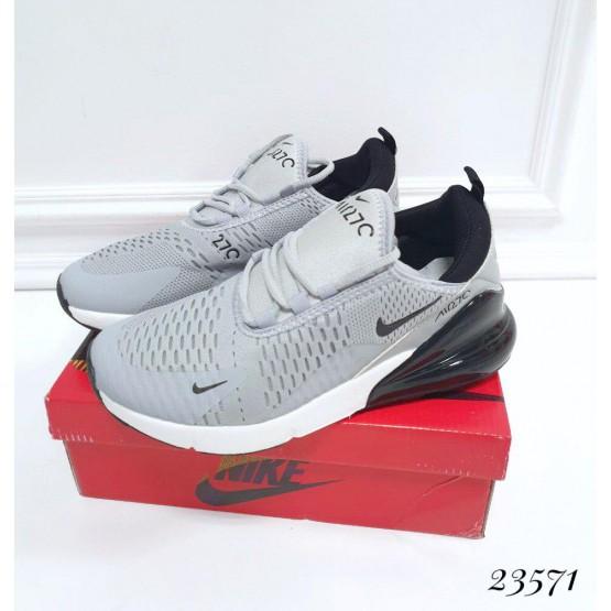 Мужская   обувь Кроссовки Nike Air Max 270; Подошва сзади-6 см; спереди-2 см ; Высота задника 6 см; с 41 по 45; 41-26; 42-27; 43- 28; 44- 29; 45- 30; см серый текстиль 23571 вьетнам 41(р)