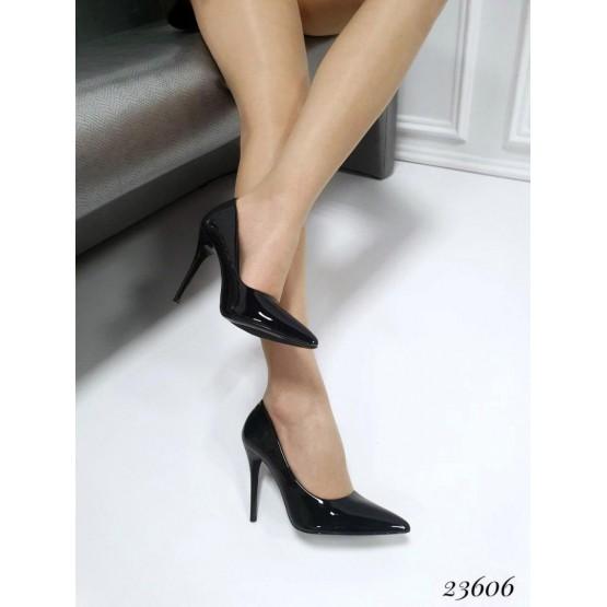 Демисезонные Туфли лодочки Seastar; Высота каблука-10,5 см; размерная сетка с 36 по 41; 36-23,5; 37-24; 38-24,5; 39-25; 40-25,5; 41-26 см черный эко лак 23606 польша 36(р)