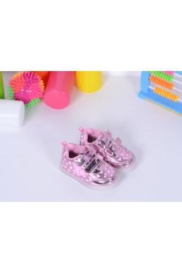 Демисезонная Детская обувь Кедики  Светяшки сердечки нежно  розовый 17339 Турция