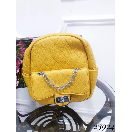 Сумки Рюкзак спереди цепь 20х23х9 желтый эко кожа 23924 Китай