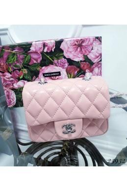 Сумки Клатч Chanel стеганый 17х14х6,5 пудра эко кожа 23932 Китай