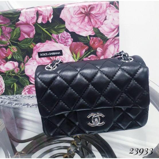 Сумки Клатч Chanel стеганый 17х14х6,5 черный эко кожа 23933 Китай