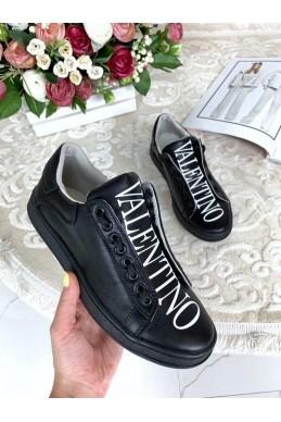 Кожаные  кеды Valentino