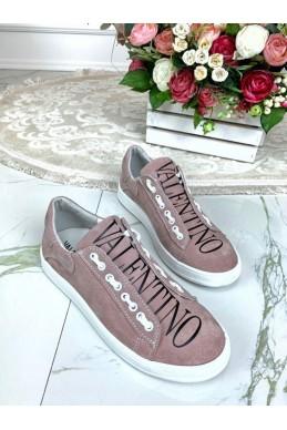 Замшевые кеды Valentino