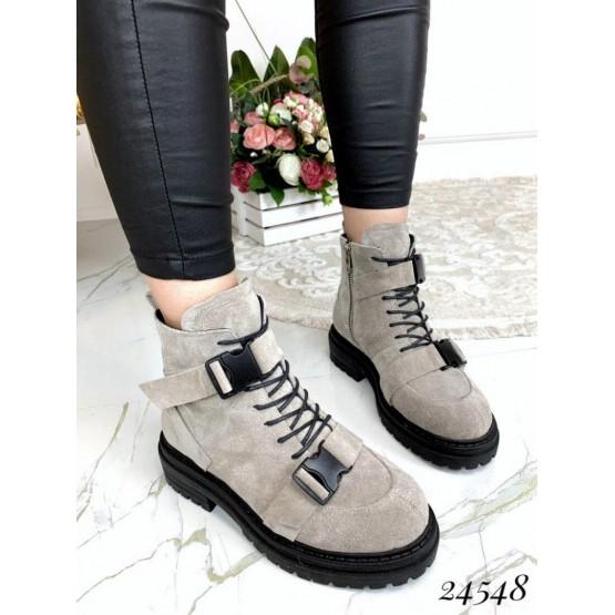 Ботинки на шнурках, тракторная подошва