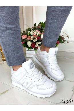 Зимние кожаные кроссовки new balance