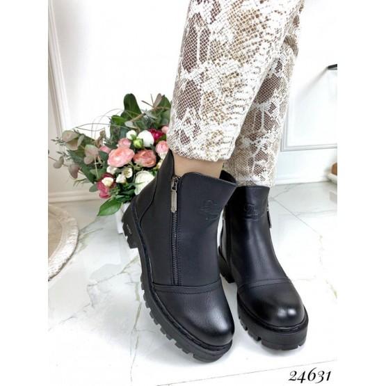 Зимние ботинки две молнии