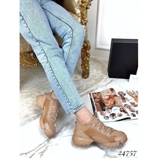 Кроссовки Dior D-Connect Nude Beige