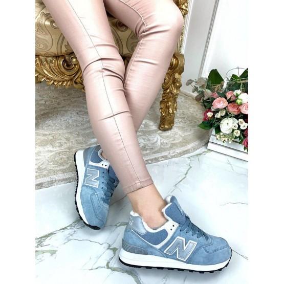 Зимние кроссовки голубые