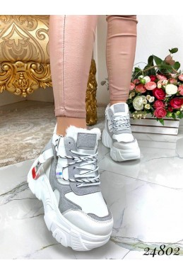 Зимние ботинки высокая подошва