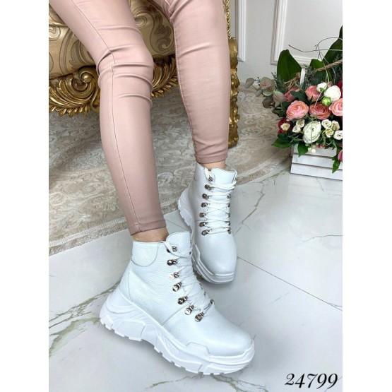 Зимние ботинки на цигейке, натуральная кожа