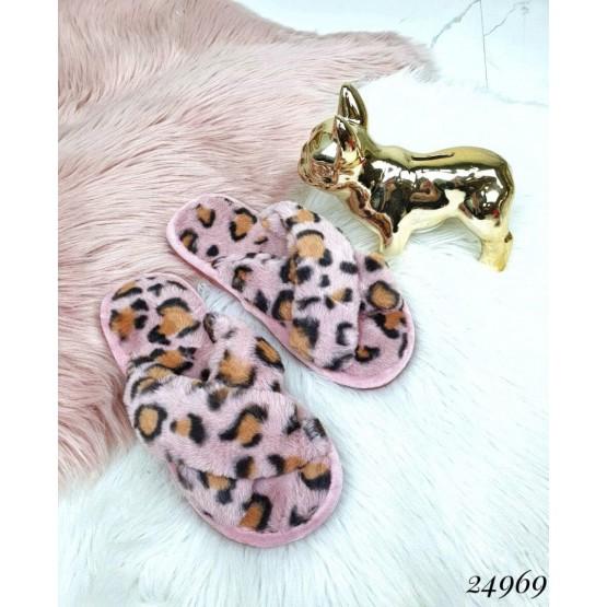 Домашние тапочки леопардовый принт