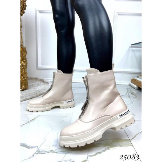 Ботинки деми спортивные спереди с молнией