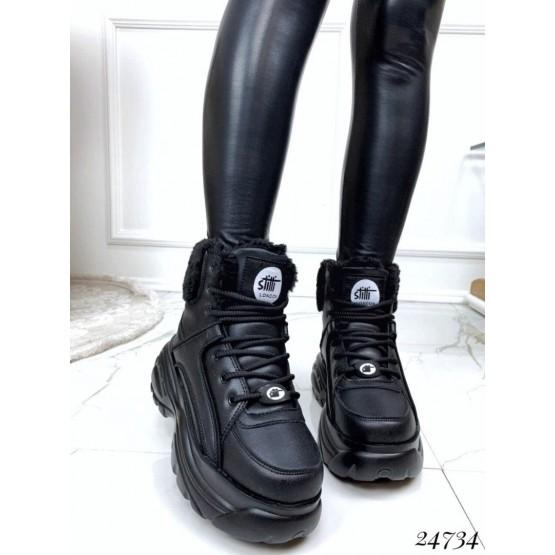 Зимние ботинки на спортивной подошве