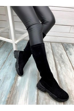 Сапоги чулки с черной подошвой