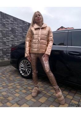 Куртка блестящая демисезонная