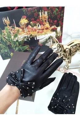 Перчатки укороченные с бантиком