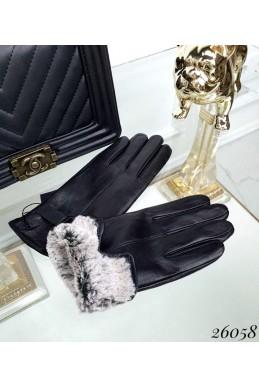 Перчатки сенсорные женские с пряжкой