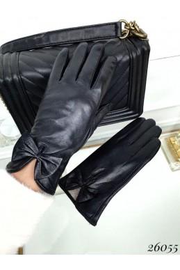 Перчатки женские бантик