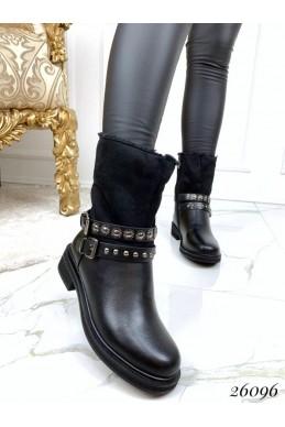 Зимние ботинки два ремешка
