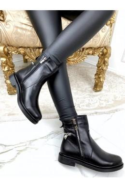 Кожаные ботинки демисезонные