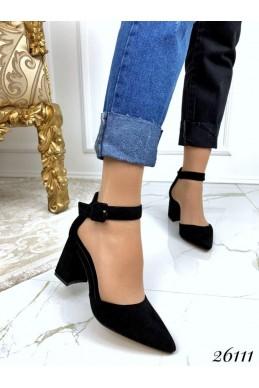 Туфли с пряжкой широкий каблук