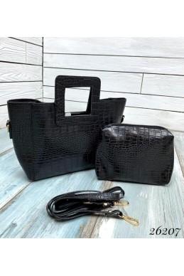 Брендовая сумка под крокодила mini