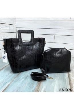 Брендовая сумка  тиснение под крокодила