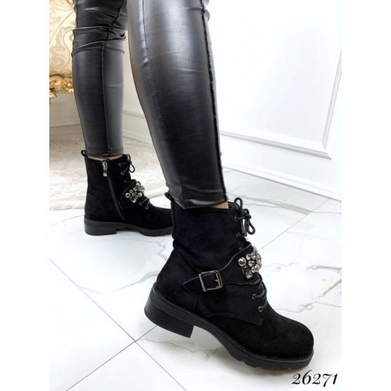 Демисезонные ботинки брошка