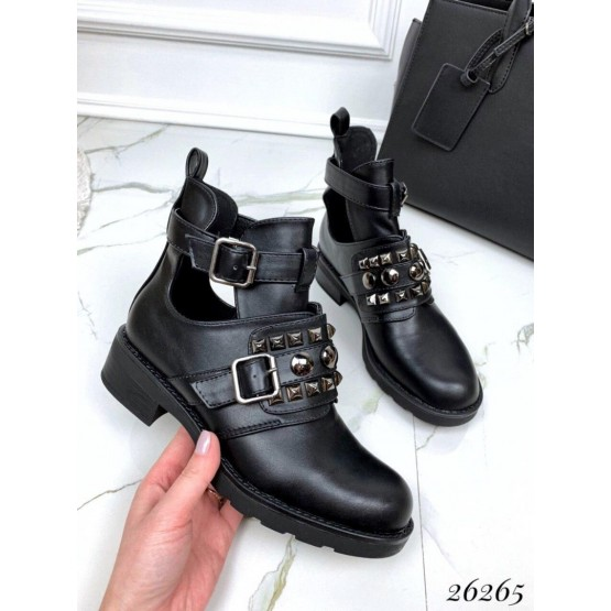 Открытые ботинки на ремешке эко кожа.