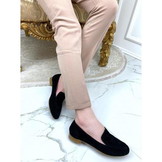 Туфли лоферы замшевые Nina_mi
