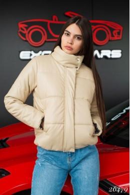 Кожанная куртка на синтепоне