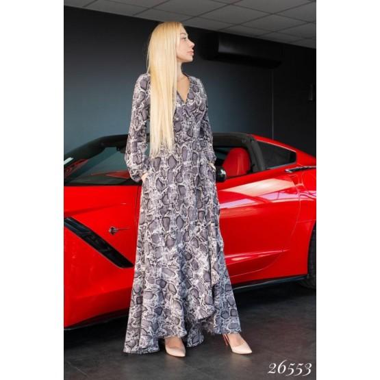 Женское платье на запах, с воланами