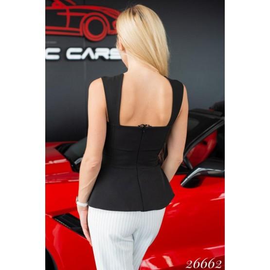 Женская блузка баска на широких блетелях