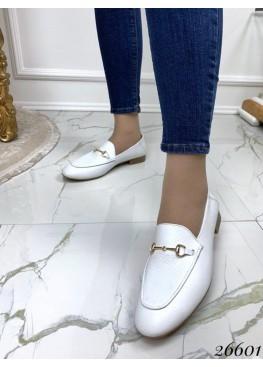 Туфли лоферы в стиле Gucci, белый питон