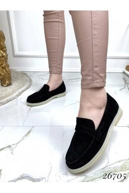 Туфли лоферы из натуральной замши