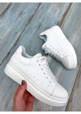 Кроссовки с белой пяткой в стиле Mcqueen